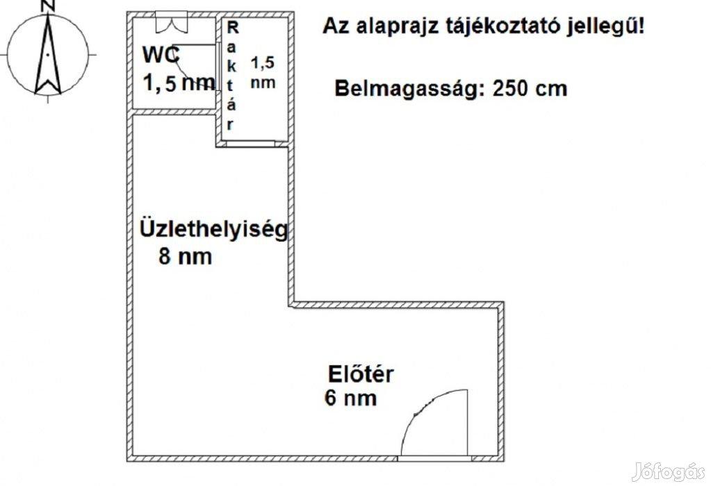 VI. Kerület, Teréz körút, 17 m2-es, üzlethelyiség utcai bejárat nélkül