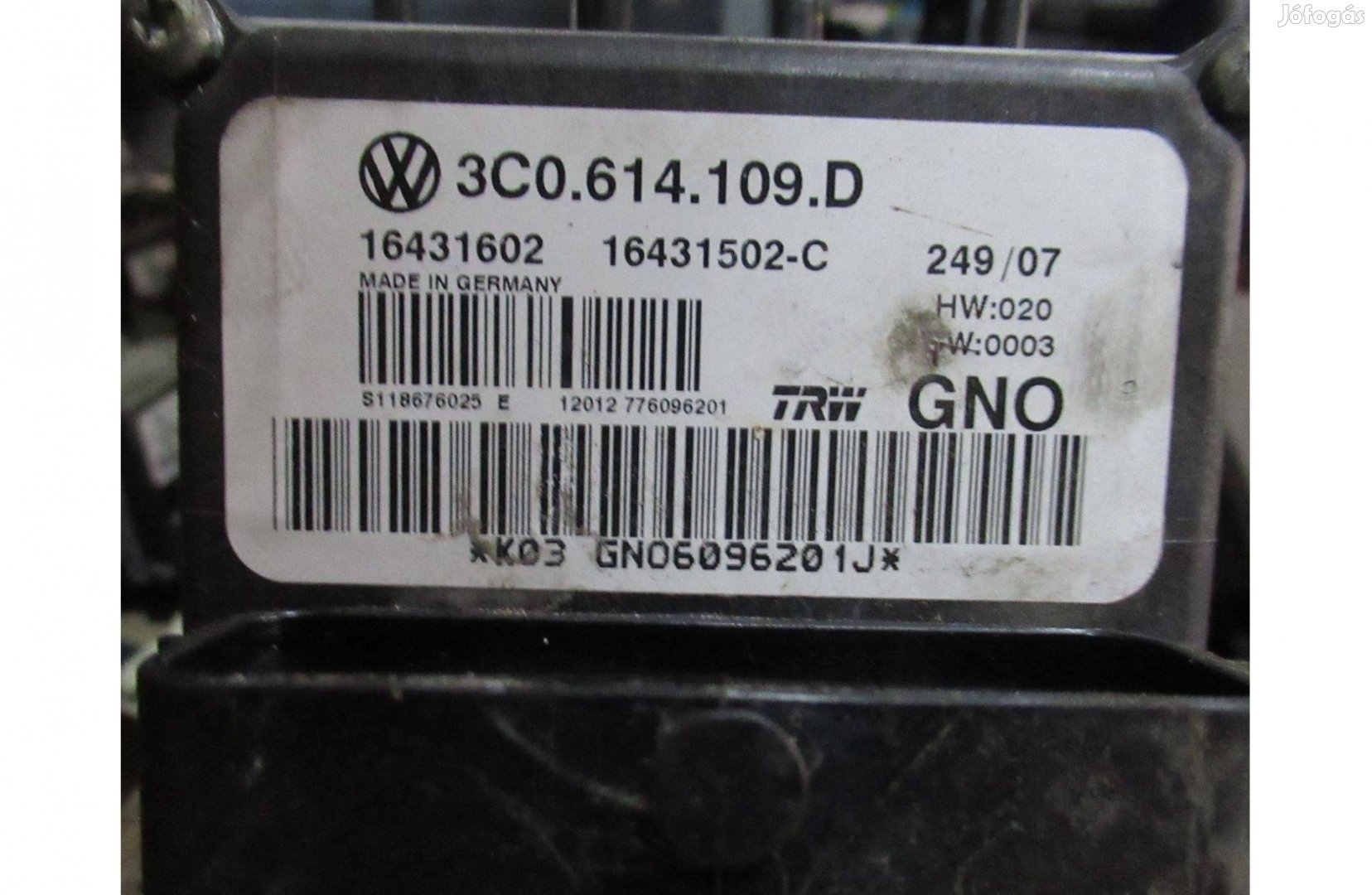VW Passat B6 3C ABS kocka 3C0 614 109 D