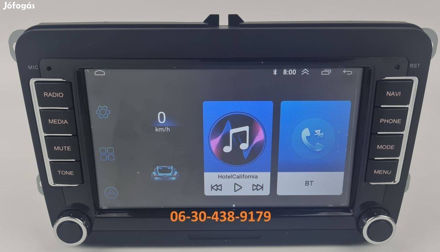 VW / Skoda / Seat Android 7col autórádió fejegység gyári helyre 1GB