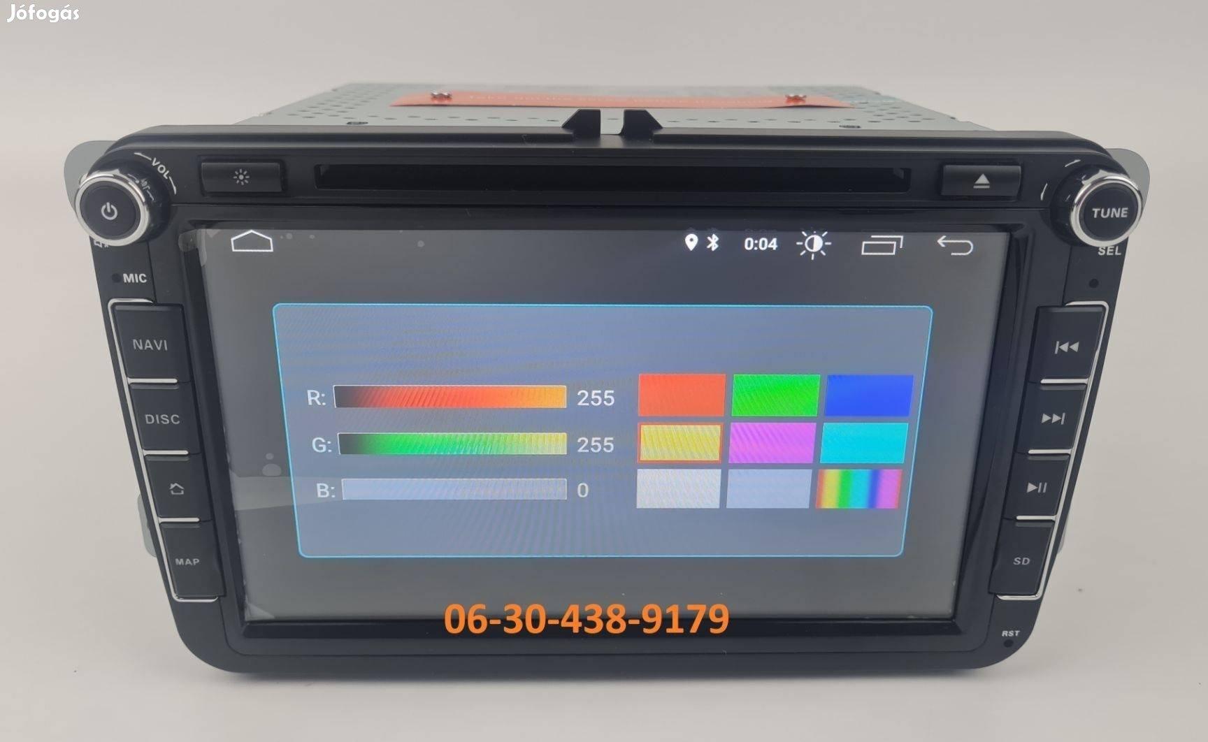 VW / Skoda / Seat Android autórádió fejegység 8colos rádió + Carplay