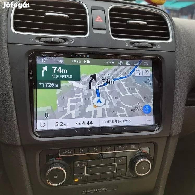 VW / Skoda / Seat Android autórádió fejegység gyári helyre 9col rádió