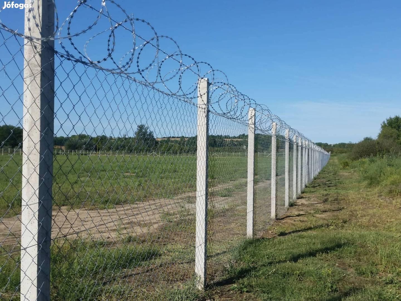 Vadháló, kerítés építés, betonoszlop ,kerítésdrót, kerítés , drótháló