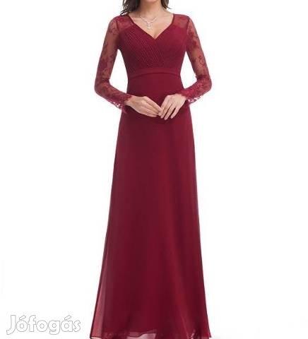9c97332478 Vadonatúj, bordó színű koszorúslány, alkalmi női ruha, 38-as méret ...