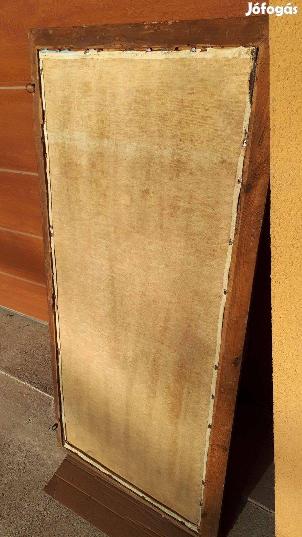 Vászon olajfestmény blondel keretben 131x63