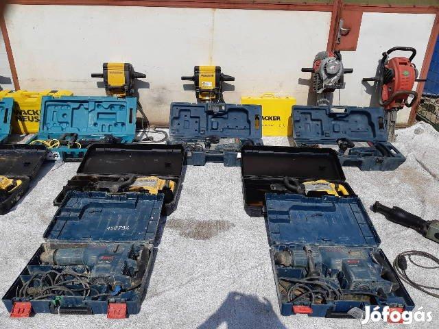 Vésőgép fúró véső ütvefúró fúró-véső Hitachi Bosch Wacker Makita ipari