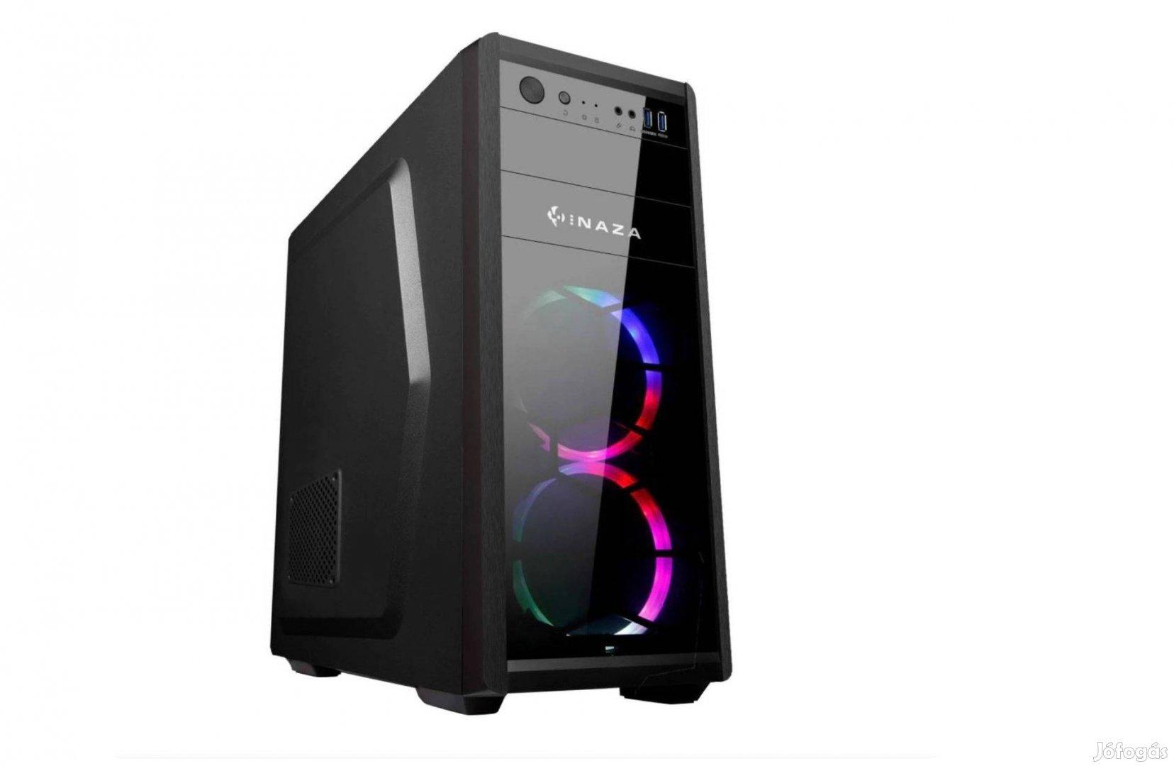 WIN 11 Gtx 1060 6GB 512 SSD Intel 10105F 16GB Számítógép 8x3.9GHz/500