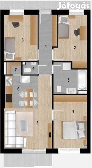 XVI. kerületben, Árpádföldön, 4 szobás, 71 nm-es, erkélyes új építésű