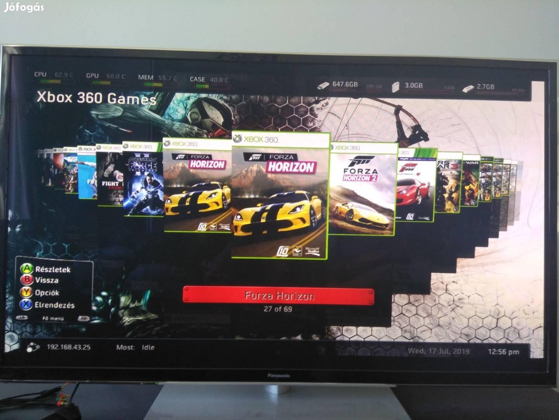 Xbox 360 S slim 250GB komplett pakk Rgh! 39 játékkal! xbox360