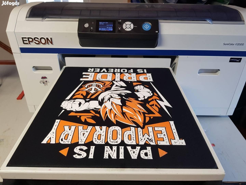 831013e370 Epson SC-F2000 DTG garment textilnyomtató, pólónyomtató + extrák, 1. Kép