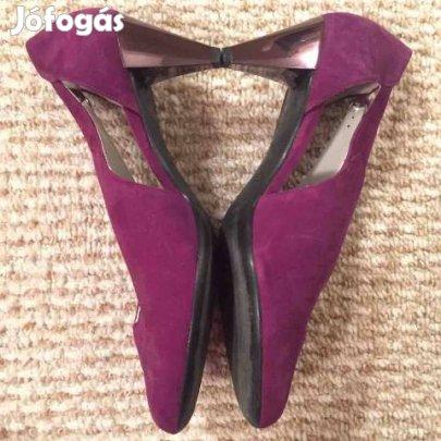 40.5 högl lila velúr bőr magas sarkú cipő topánka lakkozott - VI. kerület b41304a0fe
