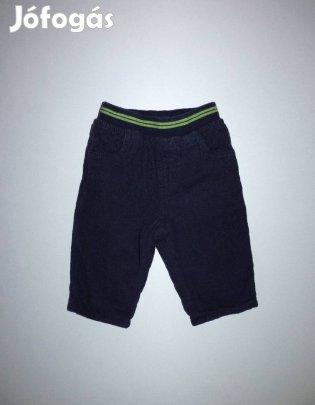 62-es puha bélelt kék baba nadrág 62 kord bársony fiú őszi téli kisfiú