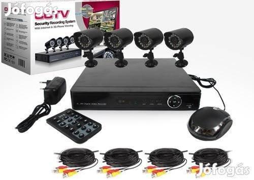 Biztonsági Kamera Rendszer Szett 4 Kamerával,Új,24999FT Akció, 1. Kép