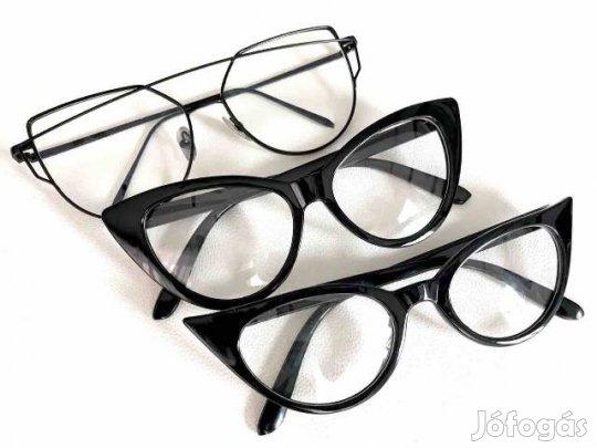 Dioptria nélküli szemüveg cica fazon eladó új 9302058098