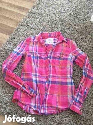 d15c9121d7 Női ing kockás rózsaszín XS 34 nyári h&m zara bershka