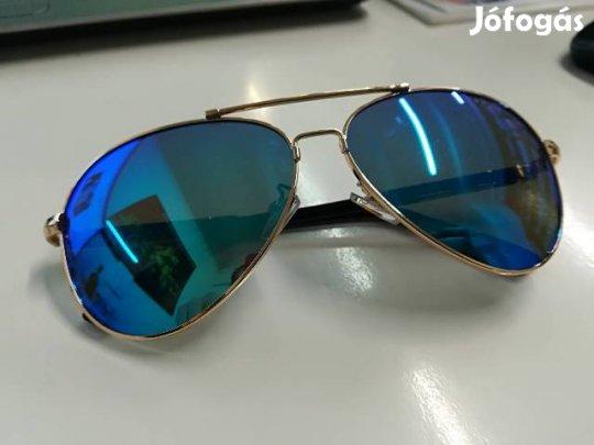 Police napszemüveg - kék lencse - fekete-arany keret dec0d87097