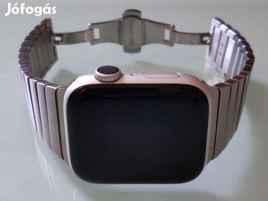 Szép - Apple Watch S4 GPS Alu 44mm - garancia - acél szíj, doboz - ez - apro.tk - minden ami apróhirdetés