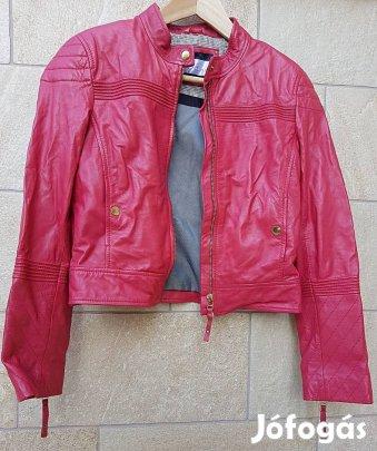 Kép XS S max mara intend piros bőrdzseki kabát hosszú ujjú steppelt 6a65ef0703