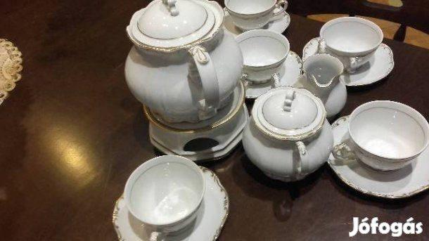Zsolany 6 személyes teáskészlet alighasznált eladó